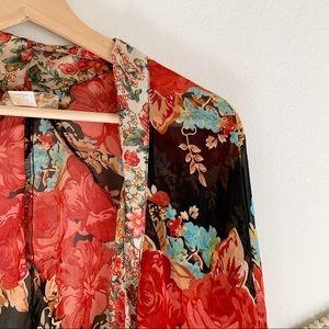 Band of Gypsies Sweaters - Band of Gypsies Kimono Style Cardigan